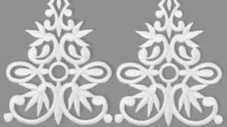 АППЛИКАЦИЯ термо. Золото, серебро, белые, черные