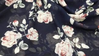Шифон принт цветы